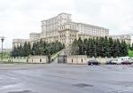 RUMANIA 37. (BUCAREST) EL PARLAMENTO RUMANO O EL PALACIO DEL PUEBLO CONSTRUIDO POR EL DICTADOR NICOLAE CEAUSECU EN 1985