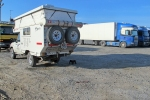 KAZAQUISTAN 1° ENTRADA 49. (ATYRAOU) POR CUESTION DE SEGURIDAD ESTA NOCHE DORMIMOS TRANQUILOS ENTRE LOS CAMIONEROS