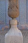 UZBEKISTAN 112 ( KHIVA MONUMENTAL) PALACIO DE TASH-KHAULI, DETALLE DE PEDESTAL Y COLUMNA