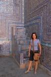 UZBEKISTAN 117 ( KHIVA MONUMENTAL) PALACIO DE TASH-KHAULI, EL MINBAR ES EL PÚLPITO DE LA MEZQUITA DONDE EL IMAN DA LOS SERMONES