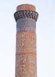 UZBEKISTAN 286 (SAMARCANDA) LA MEZQUITA BIBI-KHANYM, MINARETE DE LA PARTE TRASERA DE LA MEZQUITA
