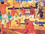 UZBEKISTAN 42 (CIUDAD DE NUKUS EL MUSEO IGOR SAVITSKY) NIKOLAY KARAKAHN 1900-1970. STALIN TRATO DE ELIMINAR TODO EL ARTE NO SOVIETICO DE ESTE PERIODO DE VANGUARDIA