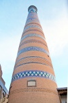 UZBEKISTAN 99 ( KHIVA MONUMENTAL) MINARETE ISLAM JODZHA, ES EL MAS ALTO DE LA CIUDAD