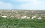 KAZAQUISTAN -2° ENTRADA 27 {HACIA EL LAGO ALAKOL} EN LA ESTEPA SE VEN ZONAS CON RESTOS DE SAL
