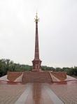 KAZAQUISTAN -2° ENTRADA 57 (SEMEY) MONUMENTOS EN COMMEMORACION CONTRA LOS ENSAYOS NUCLEARES 1