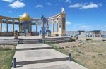 MONGOLIA 144 (HACIA ARVAYHEER) LA ESCALINATA DE ACCESO AL ALTAR