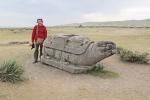 MONGOLIA 342 (KARAKORUM-EL MONASTERIO DE ERDENE ZUU) LA TORTUGA SAGRADA, SIMBOLO CHINO DE LA LONGEVIDAD