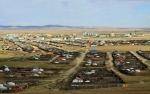 MONGOLIA 352 (KARAKORUM) VISTA GENERAL, LA CIUDAD ESTA SITUADA EN UNA LLANURA CUBIERTA DE HIERBA A POCA DISTANCIA DEL RIO ORKHON