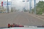 MONGOLIA 411 (ENTRADA A ULAN BATOR) EL COMIENZO DEL CENTRO, MAS DE DOS HORAS PARA LLEGAR Y SOLO HEMOS HECHO 16 KM.