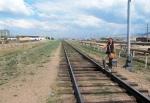MONGOLIA 430 (EL CENTRO DE ULAN BATOR) TREN-STOP SOBRE LAS VIAS DEL TRANSIBERIANO