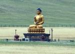 MONGOLIA 446 (HACIA EL MONASTERIO DE AMARBAYASGALANT) UNA GRAN ESTUA DE BUDA