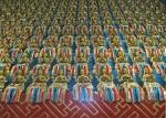 MONGOLIA 474 (EL MONASTERIO DE AMARBAYASGALANT) LOS FIELES GUARDAN LAS CENIZAS DE SUS DIFUNTOS EN ESTOS PEQUEÑOS BUDAS, QUE DEPOSITAN EN EL TEMPLO