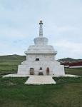 MONGOLIA 499 (EL MONASTERIO DE AMARBAYASGALANT) RECIENTE ESTUPA EN MARMOL ...