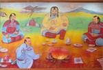 MONGOLIA 527 (DARHAN) MURAL DE UN MODERNO RESTAURANTE MONGOL