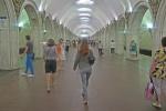 RUSIA 2° ENTRADA 18 (MOSCU) EL METRO DE MOSCU LLAMADO EL PALACIO BAJO TIERRA FUE INAUGURADO EN 1935, ES EL MAYOR DEL MUNDO EN DENSIDAD DENSIDAD DE PASAJEROS