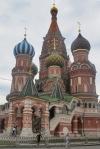 RUSIA 2° ENTRADA 28 (MOSCU) CATEDRAL DE SAN BASILIO - LA TORRE MAS ALTA SE HALLA EN EL CENTRO DE LA CONSTRUCCION, Y MIDE 47,5 M.