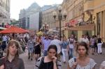 RUSIA 2° ENTRADA 7 (MOSCU) …LA CALLE ARBAT POR SU ANIMACION ES UNA GRAN ATRACCION TURISTICA EN MOSCU