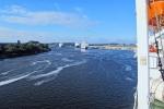 EL BALTICO 19 ( DE LETONIA A ALEMANIA) NAVEGANDO POR EL RIO TRAVE ANTES DE LLEGAR AL PUERTO DE TRAVEMÜNDE