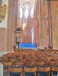 LETONIA 31 (RIGA) LA IGLESIA DE SAN PEDRO, EL INTERIOR, COMO EN LAS GLESIA LURERANAS ES MUY SOBRIO