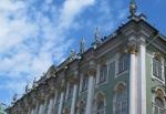 RUSIA 2º ENTRADA 17 (SAN PETESBURGO) MUSEO DEL HERMITAGE. CONSTRUIDO ENTRE  1754 Y 1762 POR DESEO DE LA EMPERATRIZ ISABEL Y DISEÑADO POR EL  ITALIANO FRANCESCO BARTOLOMEORASTRELLI