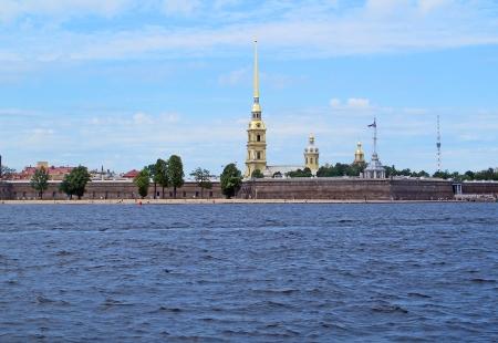 RUSIA 2º ENTRADA 31 (SAN PETESBURGO) LA FORTALEZA DE SAN PEDRO Y SAN PABLO, EDIFICADA EN 1703 SOBRE LA ISLA DE ZAYACHY