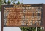 MALI 23 (CAMINO A LAS CATARATAS DE GOUINA) CARTEL QUE CUENTA LA HISTORIA DEL LUGAR