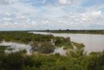 GHANA 3 (ENTRADA POR (EL NORTE) EL RIO VOLTA NEGRO O MOUHOUN, NACE EN BURKINA FASO MIDE 1.352 KM Y ES AFLUENTE DEL RIO VOLTA BLANCO