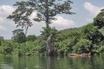 GHANA 41 (EN CANOA POR EL RIO VOLTA) DESPUES DE UN RECORRIDO DE 1.600 KM, CON CASCADAS Y SALTOS DESEMBOCA EN EL ATLANTICO