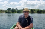 GHANA 42 (EN CANOA POR EL RIO VOLTA) LA CUENCA DE ESTE RIO OCUPA LA MAYOR PARTE DE LA SUPERFICIE DE GHANA