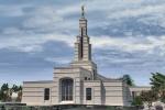 GHANA 58 (EN ACCRA) EL GRAN TEMPLO MORMON, CONSTRUIDO EN 2002, EN LA AVENIDA DE LA INDEPENDENCIA