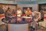 GHANA 67 (ACCRA, NUESTRA INTEVIU EN LA TELEVISION TV3 DE GHANA) AL PRINCIPIO LA INTERVIU EMPEZO MUY SERIA PERO ACABO EN UN SIMPATIQUISIMO DESMADRE TOTAL