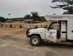 CONGO BRAZZAVILLE 1. (DISTRITO DE LA CUVETTE) LA FRONTERA DEL CONGO EN ASSIENE, POBLACION DE 600 HABITANTES SITUADA A 31 KM. DE KABALA EN GABON