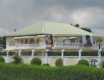 CONGO BRAZZAVILLE 25. (DISTRITO DE LA CUVETTE, POBLACION DE OYO) CASA FAMILIAR EN OYO DEL PRESIDENTE DE LA REPUBLICA CONGOLESA DENIS SASSOU NGUESSO ORIGINARIO DE ESTE POBLADO