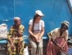 CONGO BRAZZAVILLE 56. (BRAZAVILLE, EN BARCO HACIA KINSASA) YA EN LA BARCAZA PETRA COMO SIEMPRE  HACIENDO AMISTADES…