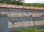 CONGO KINSASA 20. (POR LA NACIONAL N-1) PLACA COMMEMORATIVA DEL 50º ANIVERSARIO DEL TREN LEOPOLDVILLE A MATADI
